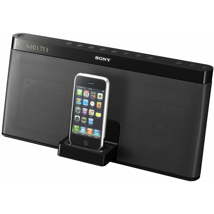 Bærbar højttaler til iPhone fra Sony
