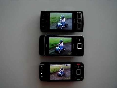 Skærmen – Nokia N85 vs Nokia N96 vs Nokia N95 8GB