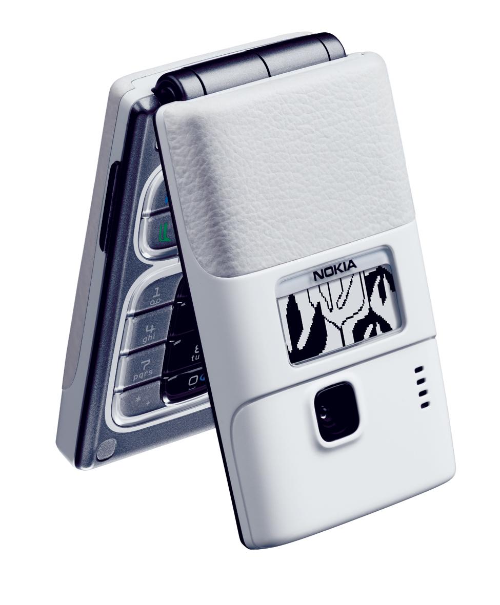 Nokia 7200 i hvidt læder