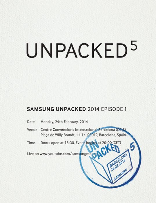 Galaxy S5: Samsung Unpacked 5 den 24. februar