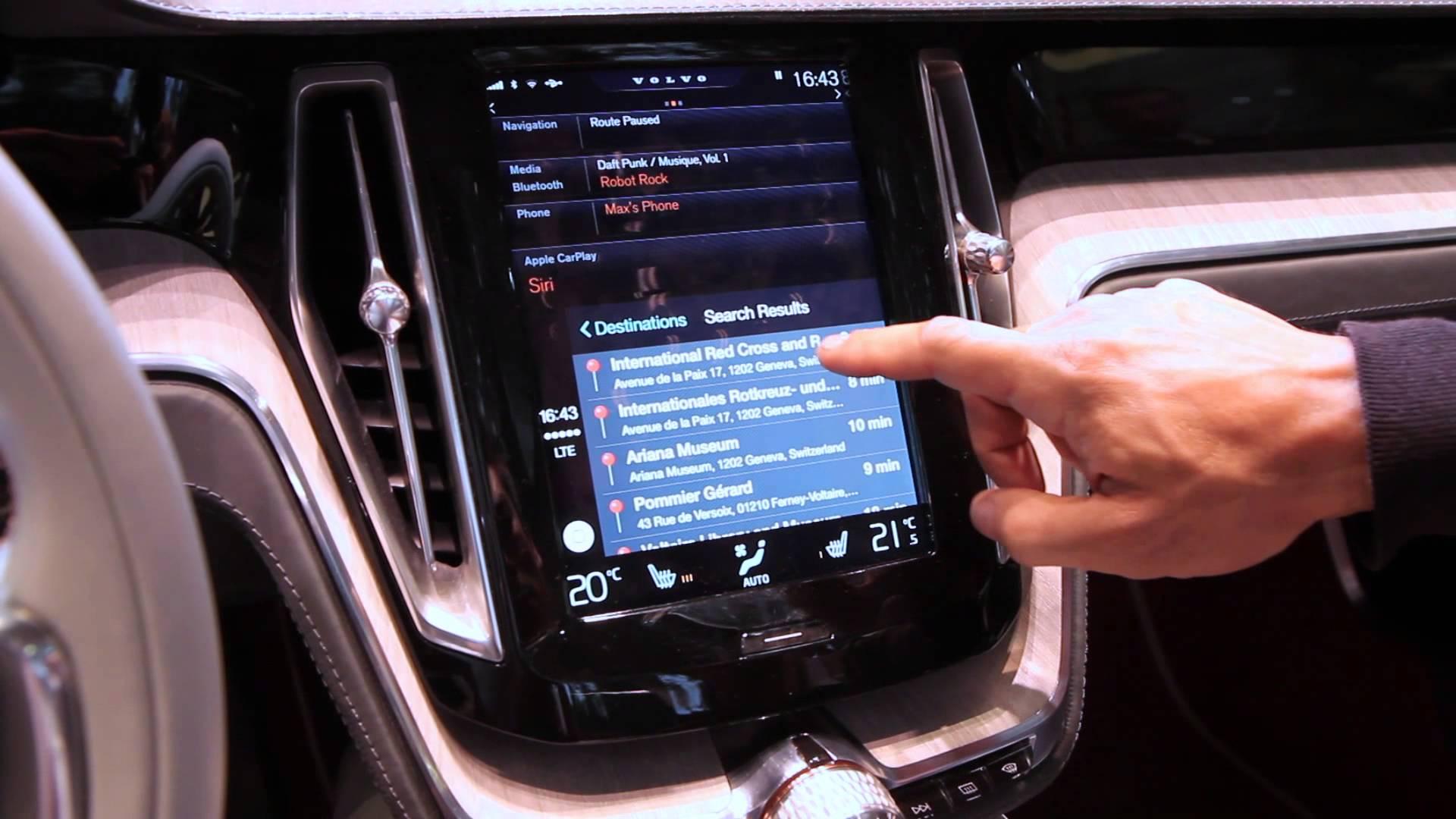 Video af Apple CarPlay på Genève Motorshow