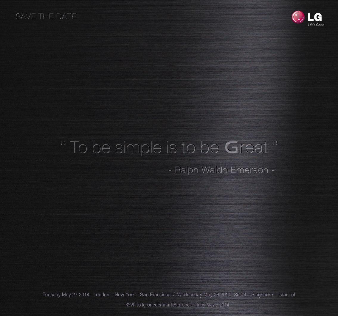 LG G2 efterfølgeren præsenteres den 27. maj 2014