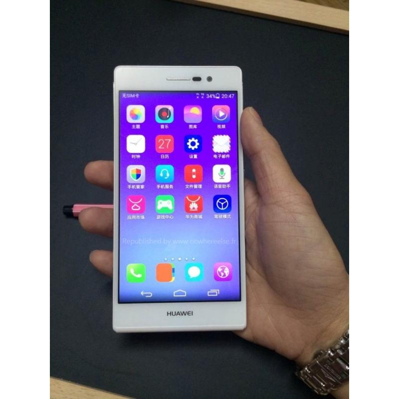 Hands-on billeder af den nye Huawei Ascend P7