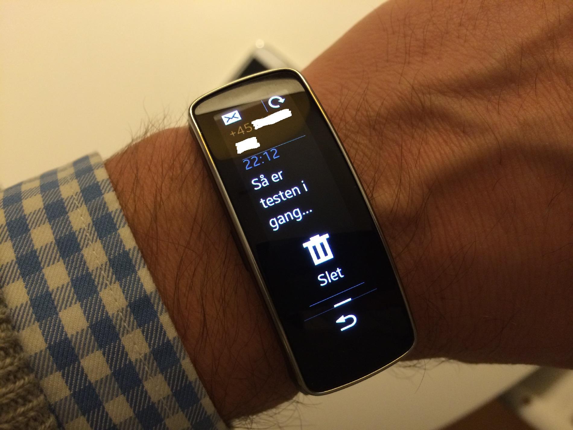 Samsung Gear Fit er også klar