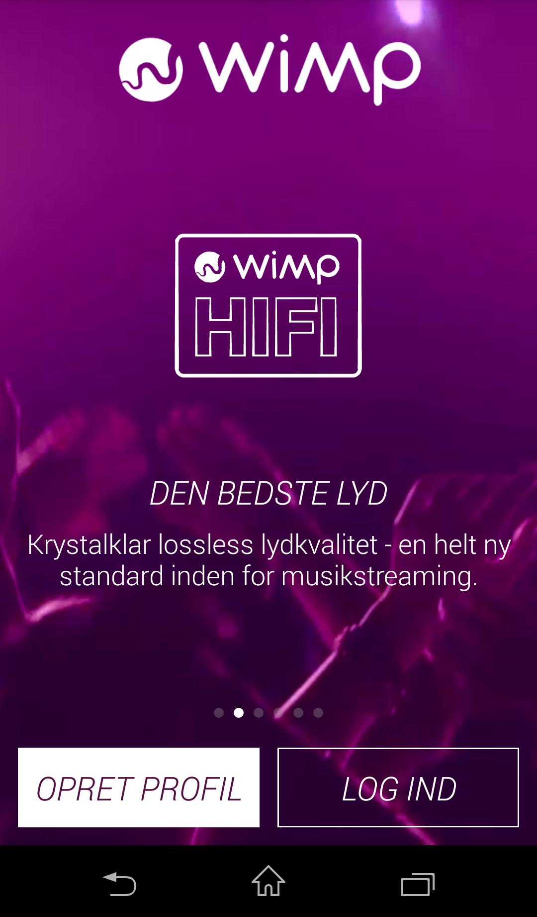 WiMP opdatering til Android-brugere.