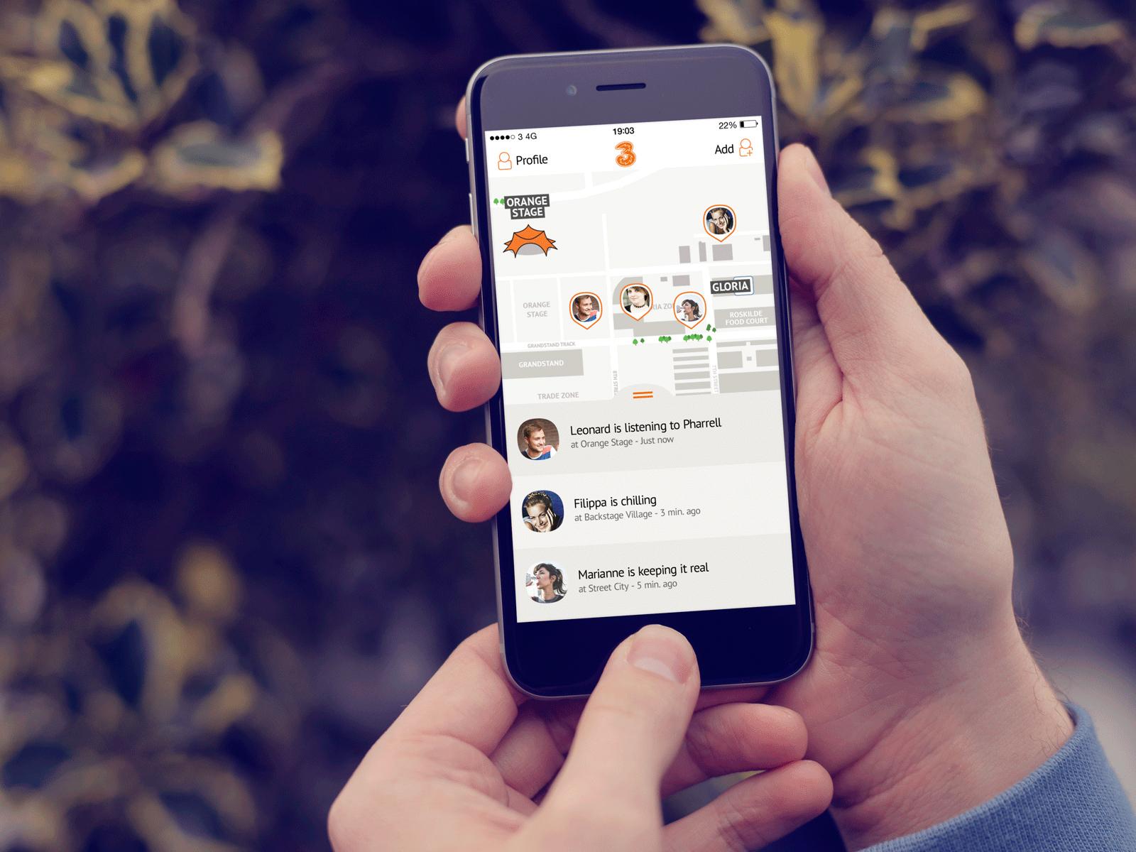 Ny app fra 3 hjælper festivalgæster med at finde hinanden