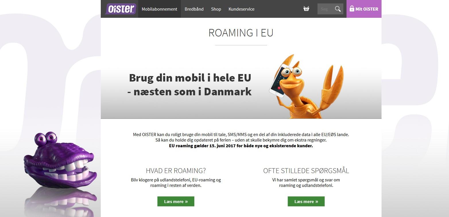 OiSTER inkluderer EU-roaming i sine abonnementer, men fastholder prisen
