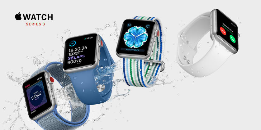 Apple Watch Series 3 med indbygget mobilforbindelse kommer hos 3