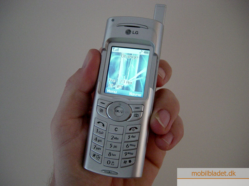 LG G7050 slider telefon ankommet på redaktionen