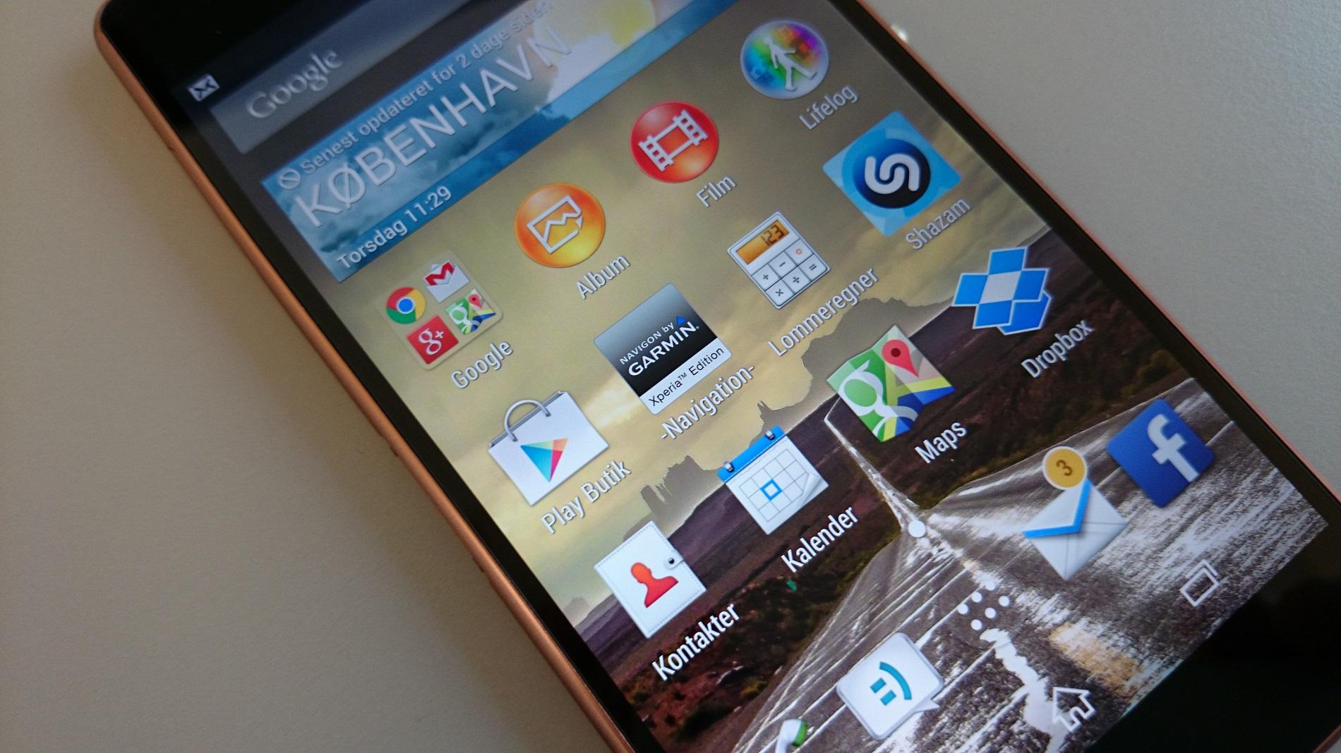 Stort billedgalleri af Sony Xperia Z3