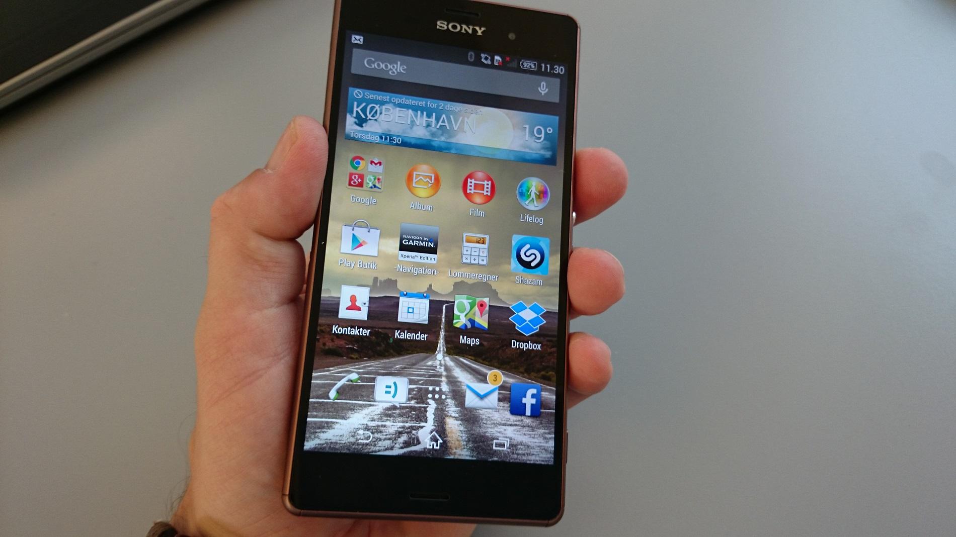 Test af Sony Xperia Z3