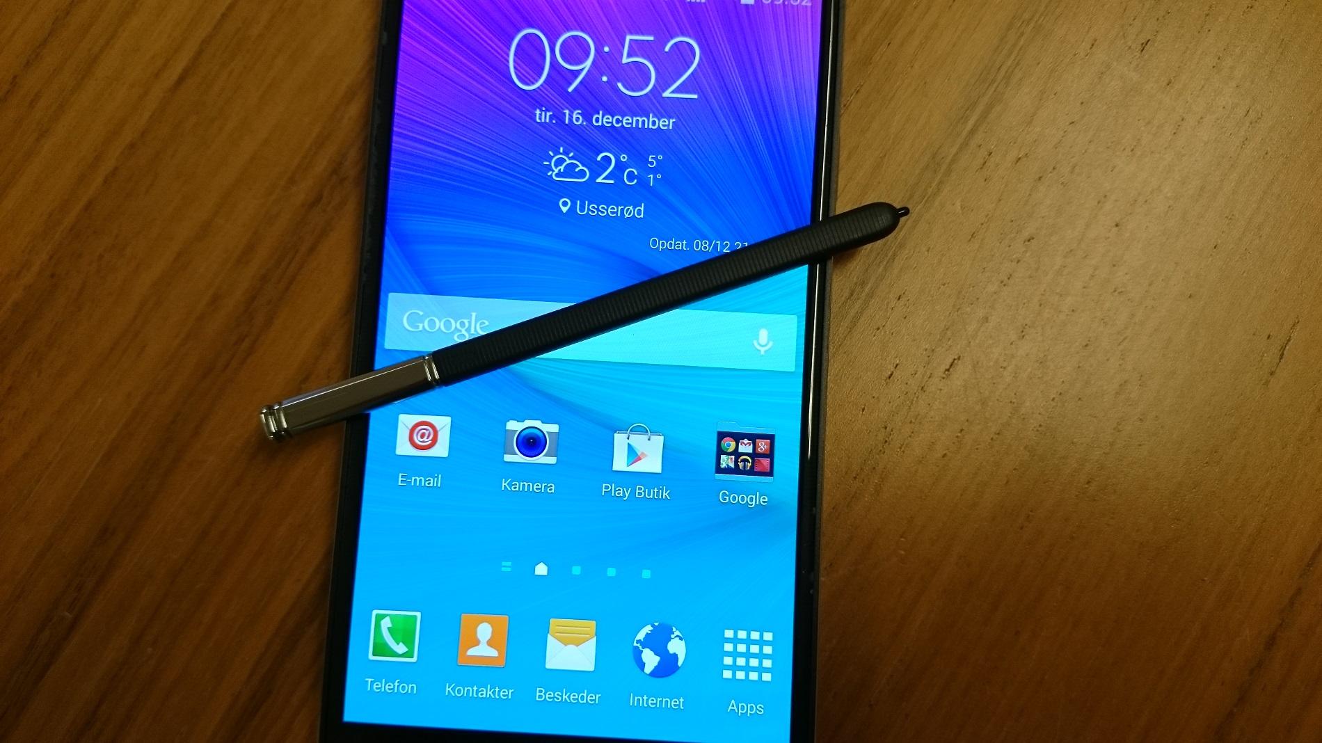 Billedgalleri Samsung Note 4