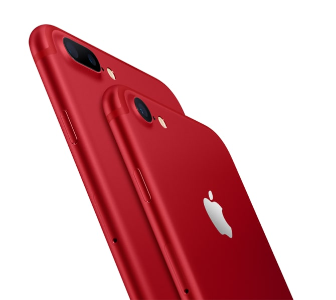 iPhone 7 og iPhone 7 Plus (PRODUCT)RED
