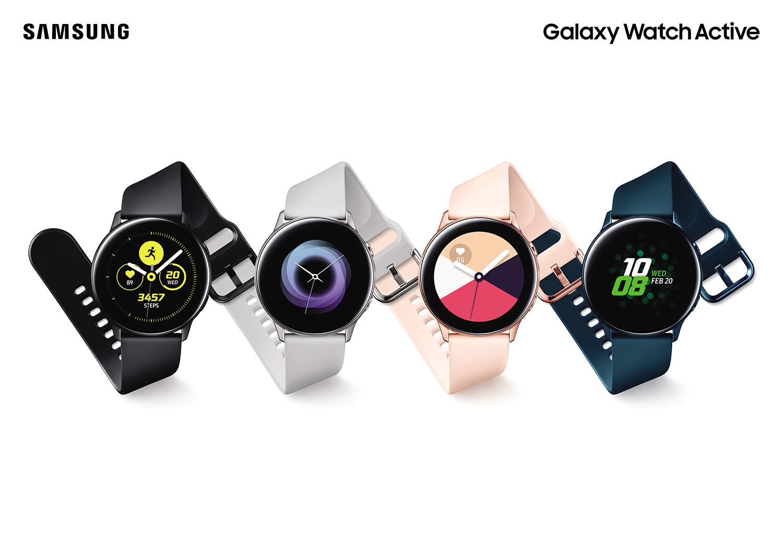 Samsung Galaxy Watch Active, Galaxy Fit og Galaxy Buds